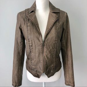 Bernardo Collection brown faux leather jacket
